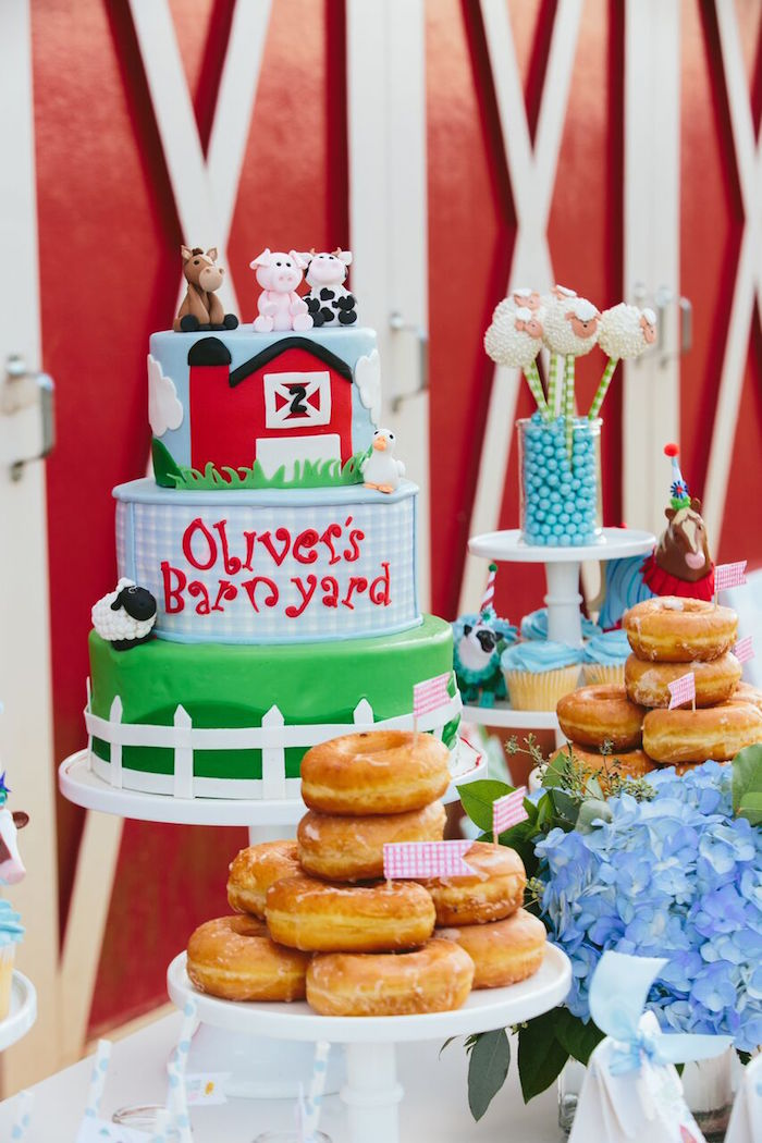 Preppy Barnyard Farm Party on Kara's Party Ideas | KarasPartyIdeas.com (11)
