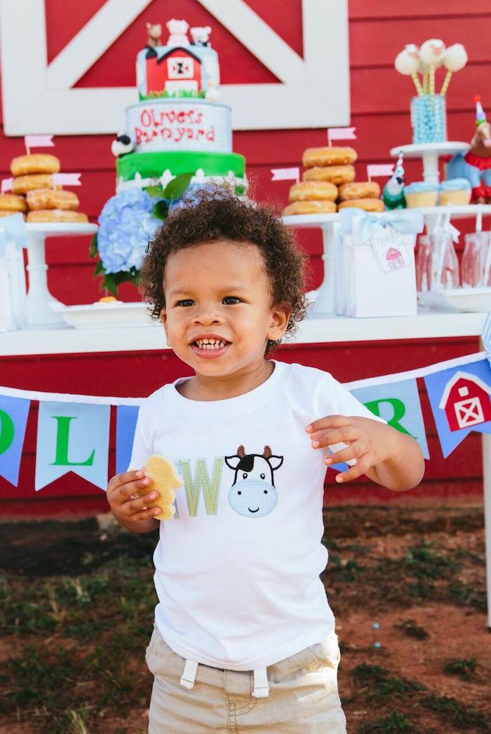 Custom cow shirt from a Preppy Barnyard Farm Party on Kara's Party Ideas | KarasPartyIdeas.com (5)