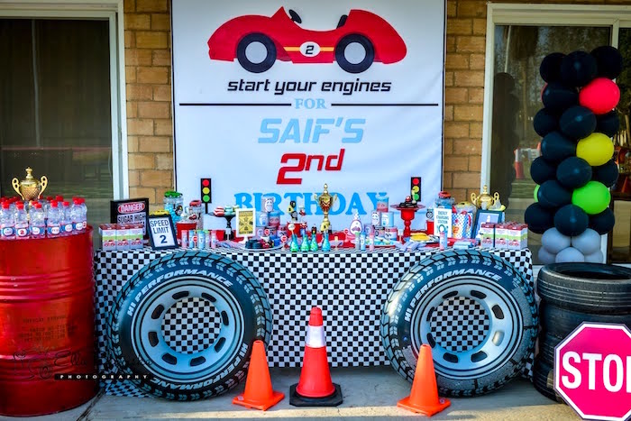 ... Party Ideas Red & Blue Race Car Birthday Party  Karas Party Ideas