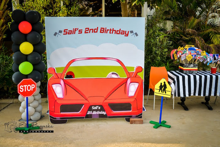 Race Car Photo Booth From A Birthday Party On Karas Ideas