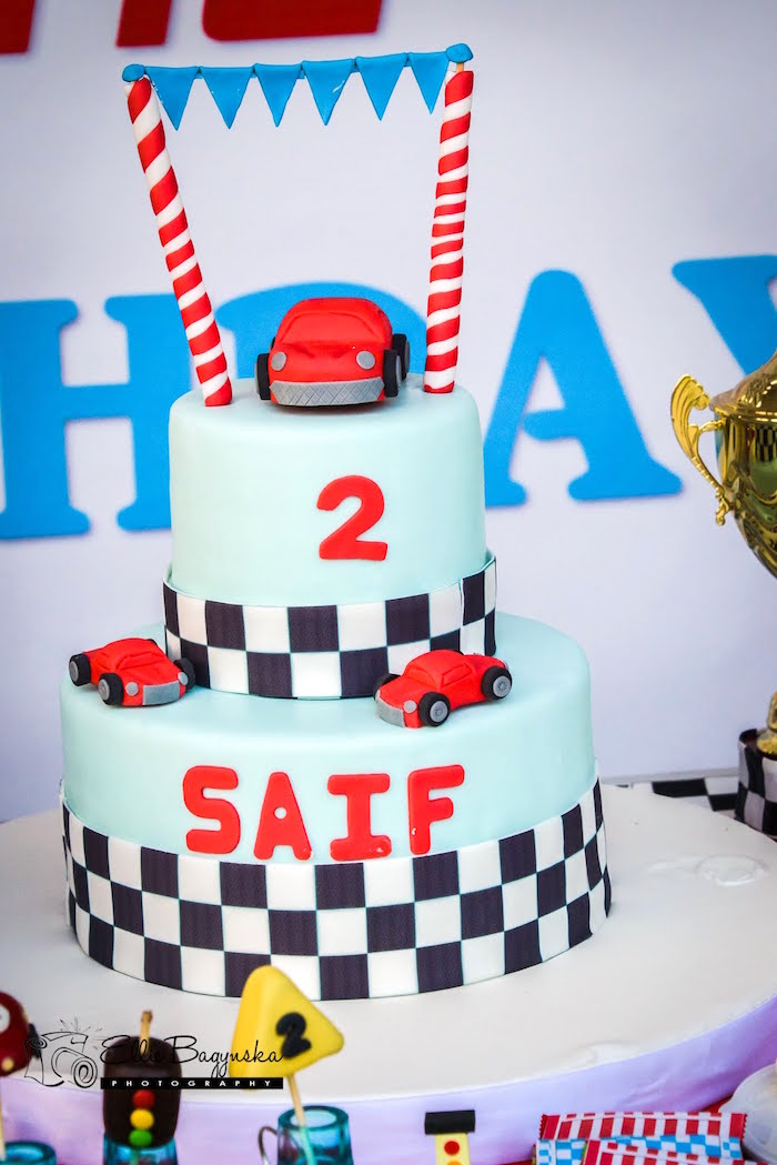 Karas Party Ideas Red Blue Race Car Birthday Party Karas Party