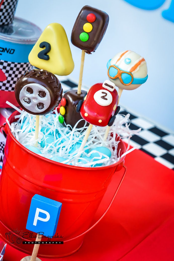 Kara S Party Ideas Red Amp Blue Race Car Birthday Party