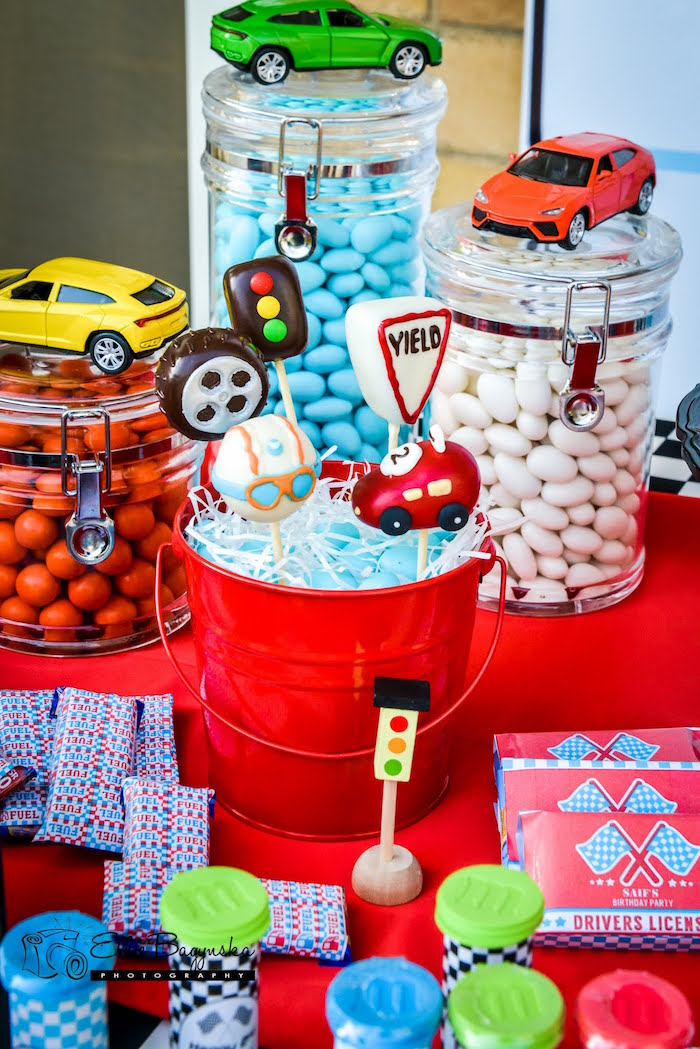Karas Party Ideas Red Blue Race Car Birthday Party