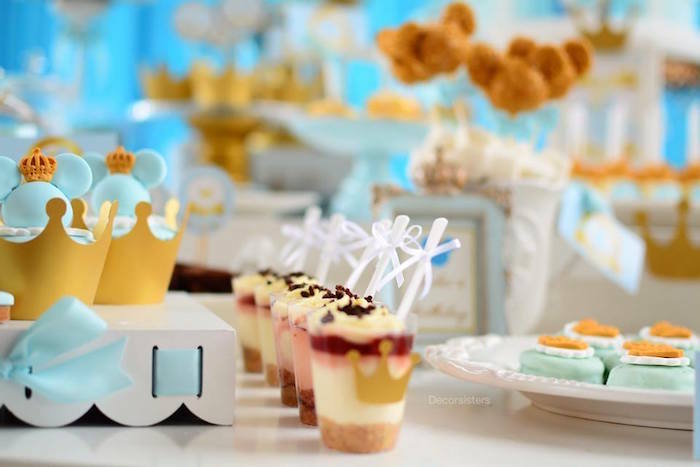 Dessert cups from a Royal Mickey Mouse Birthday Party on Kara's Party Ideas | KarasPartyIdeas.com (7)