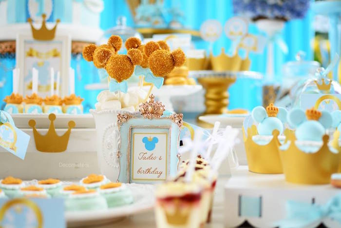 Royal Mickey Mouse Birthday Party on Kara's Party Ideas | KarasPartyIdeas.com (6)