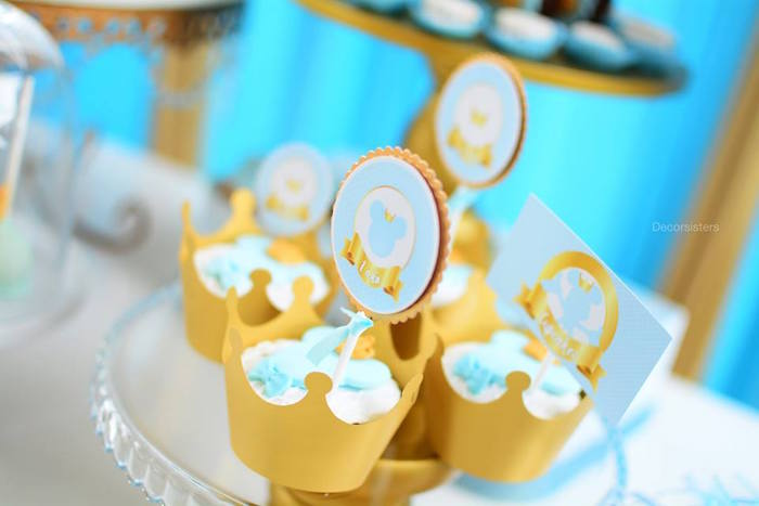 Mickey Mouse Cupcakes from a Royal Mickey Mouse Birthday Party on Kara's Party Ideas | KarasPartyIdeas.com (12)