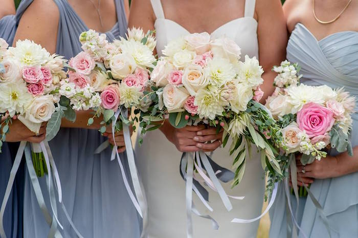 Bride & bridesmaids from a Rustic Chic Mountain Wedding on Kara's Party Ideas | KarasPartyIdeas.com (21)