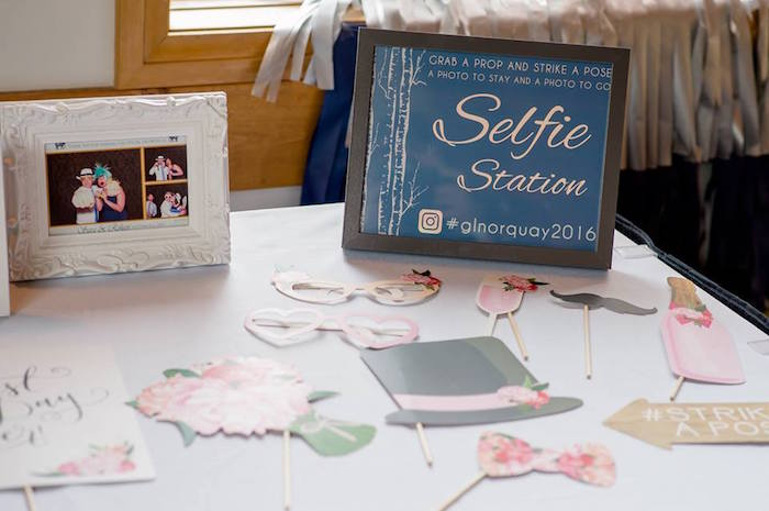 Selfie station from a Rustic Chic Mountain Wedding on Kara's Party Ideas | KarasPartyIdeas.com (20)