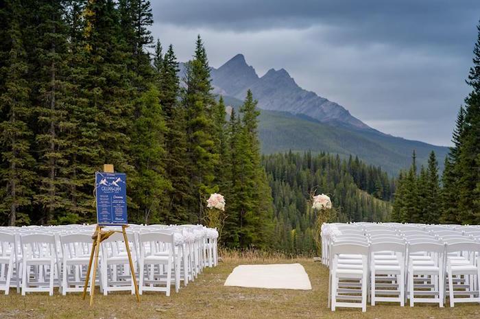 Wedding spread from a Rustic Chic Mountain Wedding on Kara's Party Ideas | KarasPartyIdeas.com (19)