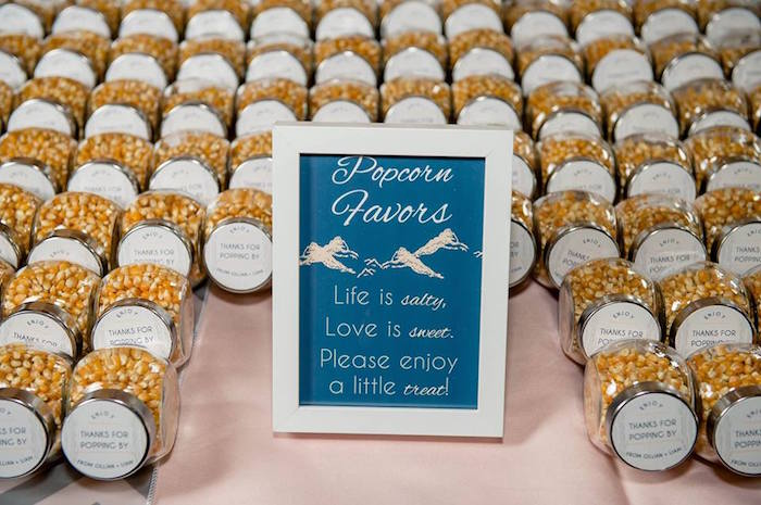 Popcorn favors from a Rustic Chic Mountain Wedding on Kara's Party Ideas | KarasPartyIdeas.com (16)
