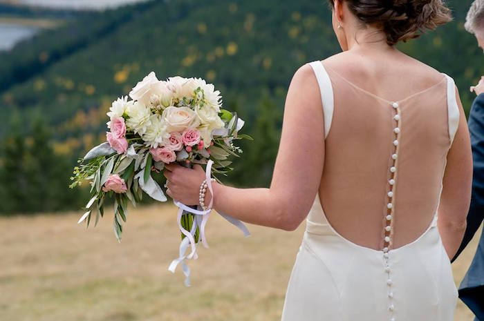 Bride from a Rustic Chic Mountain Wedding on Kara's Party Ideas | KarasPartyIdeas.com (15)