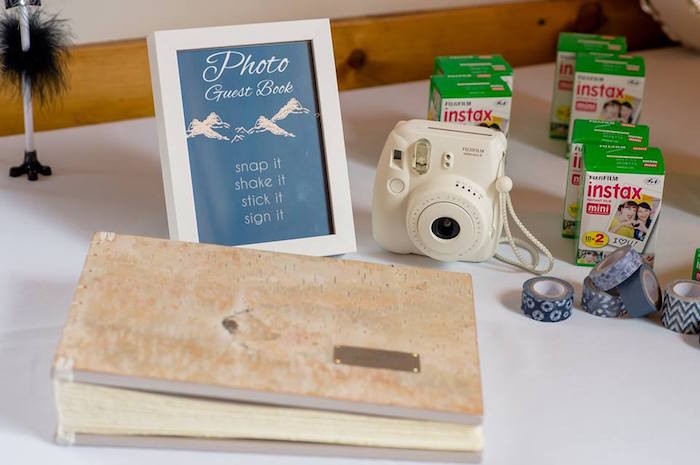 Photo guest book from a Rustic Chic Mountain Wedding on Kara's Party Ideas | KarasPartyIdeas.com (10)