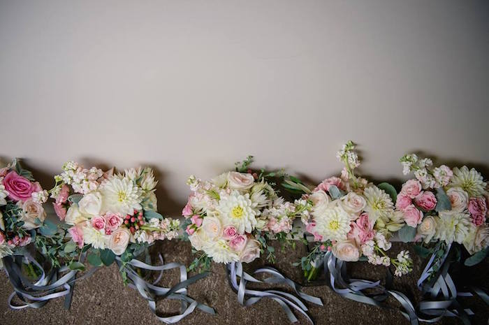 Floral bouquets from a Rustic Chic Mountain Wedding on Kara's Party Ideas | KarasPartyIdeas.com (9)