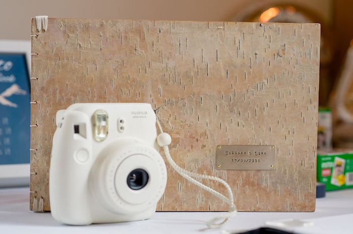 Instax camera and guestbook from a Rustic Chic Mountain Wedding on Kara's Party Ideas | KarasPartyIdeas.com (8)