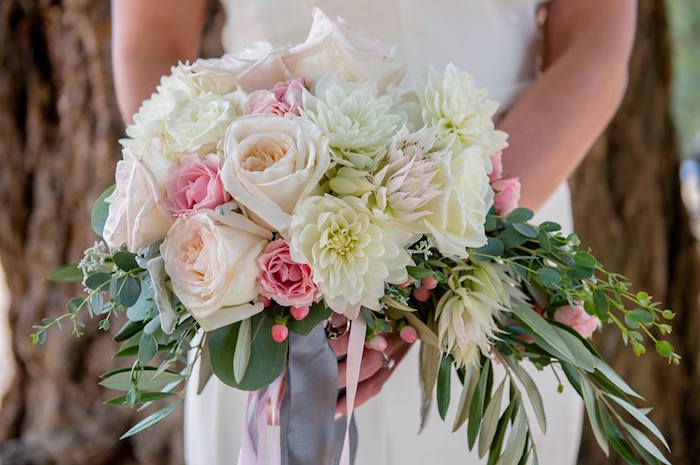 Bridal bouquet from a Rustic Chic Mountain Wedding on Kara's Party Ideas | KarasPartyIdeas.com (7)