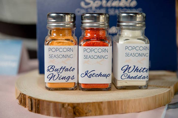 Popcorn seasoning from a Rustic Chic Mountain Wedding on Kara's Party Ideas | KarasPartyIdeas.com (25)