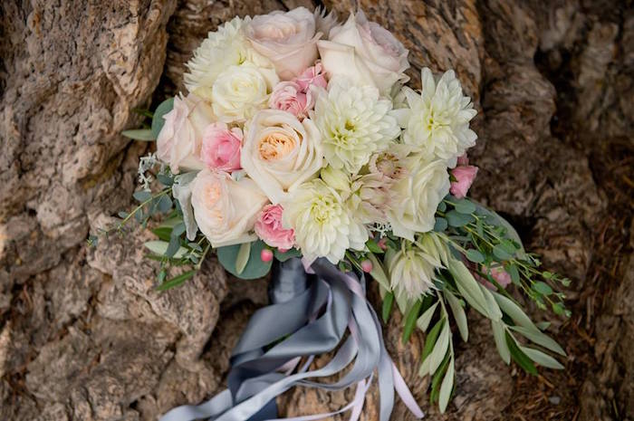 Floral bouquet from a Rustic Chic Mountain Wedding on Kara's Party Ideas | KarasPartyIdeas.com (24)