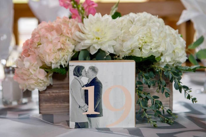 Picture block table number from a Rustic Chic Mountain Wedding on Kara's Party Ideas | KarasPartyIdeas.com (22)