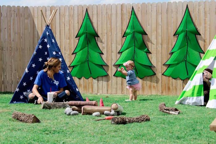 Rustic Woodland Camping Birthday Party on Kara's Party Ideas | KarasPartyIdeas.com (14)