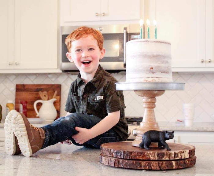 Cake from a Rustic Woodland Camping Birthday Party on Kara's Party Ideas | KarasPartyIdeas.com (25)