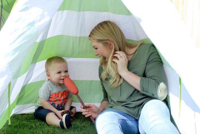 Rustic Woodland Camping Birthday Party on Kara's Party Ideas | KarasPartyIdeas.com (19)