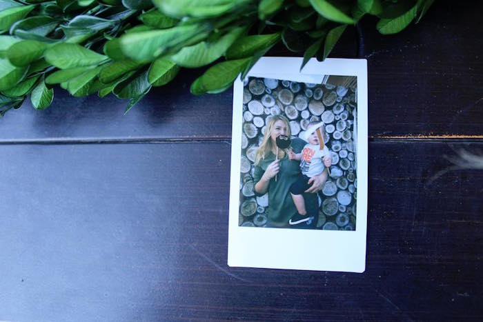 Instax photo booth photo from Rustic Woodland Camping Birthday Party on Kara's Party Ideas | KarasPartyIdeas.com (18)