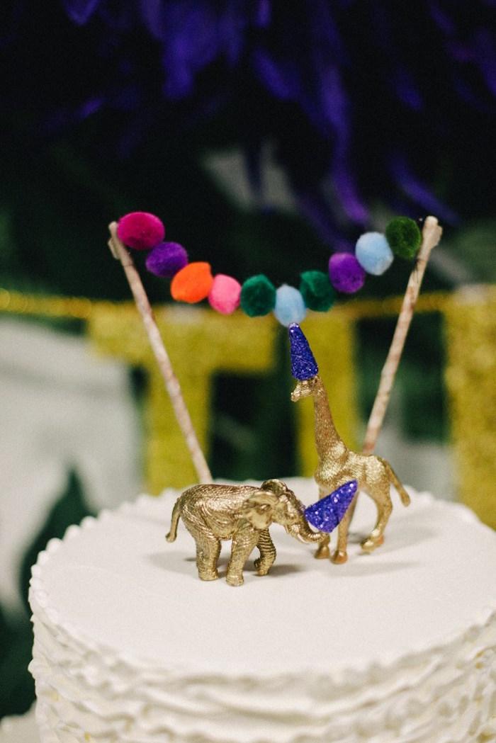 Cake bunting from a Safari Animal Birthday Party on Kara's Party Ideas | KarasPartyIdeas.com (13)