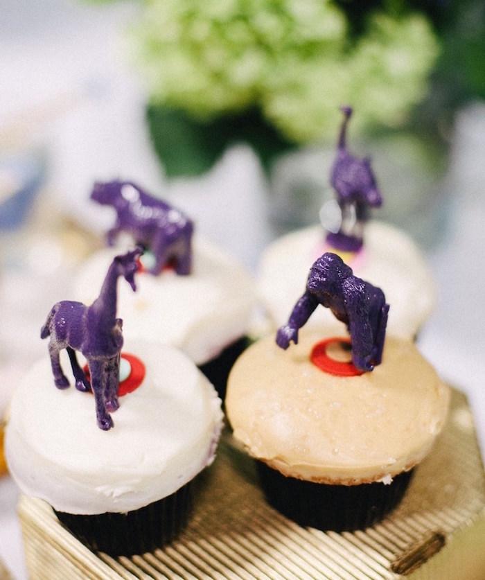 Safari animal cupcakes from a Safari Animal Birthday Party on Kara's Party Ideas | KarasPartyIdeas.com (11)