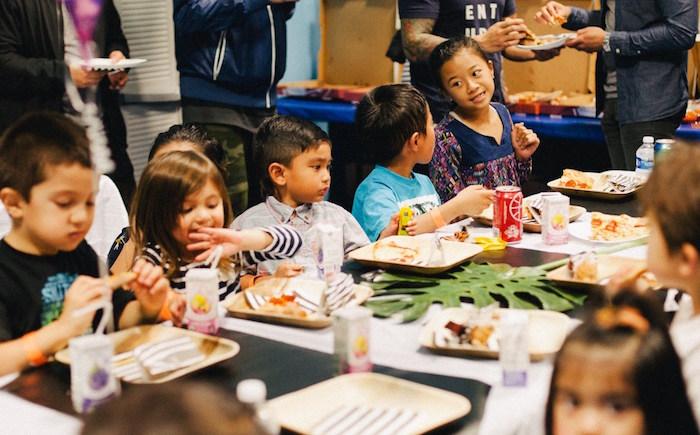 Dining tablescape from a Safari Animal Birthday Party on Kara's Party Ideas | KarasPartyIdeas.com (7)