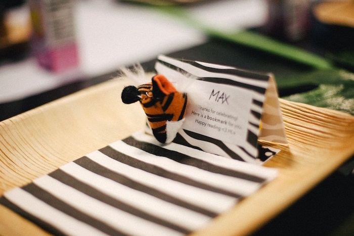 Personalized place setting from a Safari Animal Birthday Party on Kara's Party Ideas | KarasPartyIdeas.com (18)