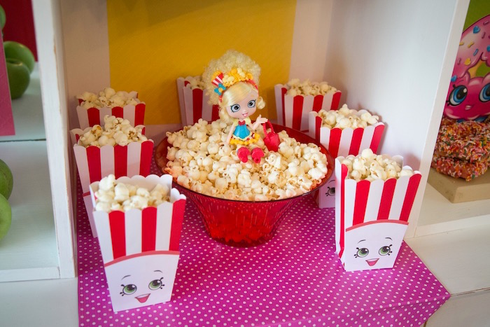 Poppy Corn & Popette popcorn from a Shopkins Birthday Party on Kara's Party Ideas | KarasPartyIdeas.com (15)