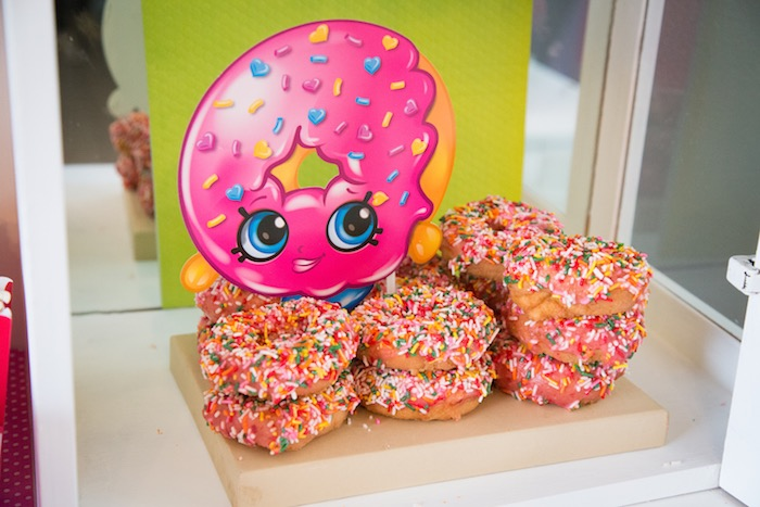 D'Lish Donut donuts from a Shopkins Birthday Party on Kara's Party Ideas | KarasPartyIdeas.com (14)