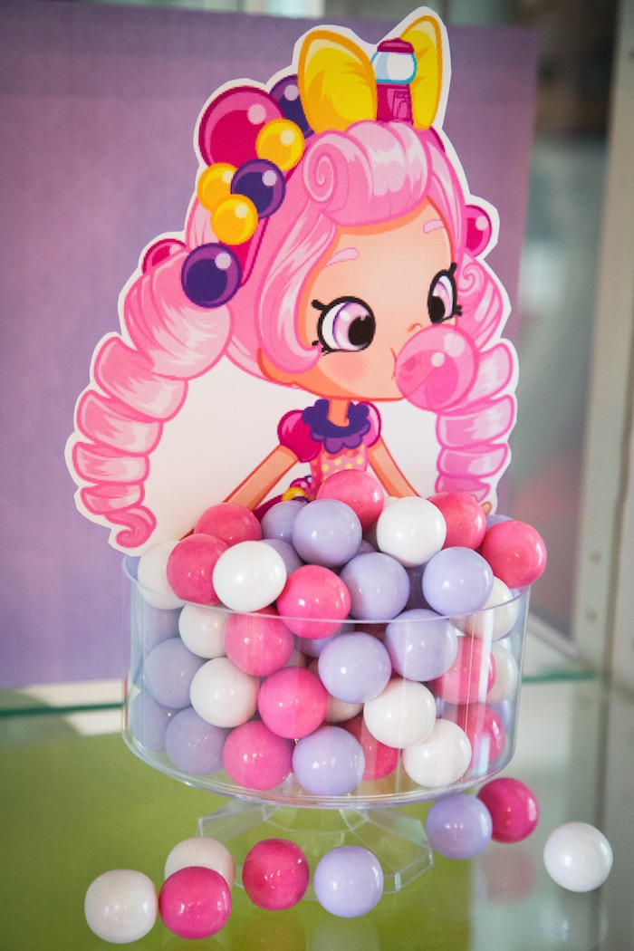 Bubbleisha gumballs from a Shopkins Birthday Party on Kara's Party Ideas | KarasPartyIdeas.com (13)
