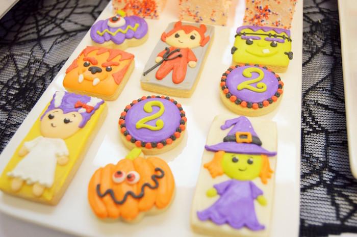 Halloween cookies from a Spooktacular Halloween Birthday Party on Kara's Party Ideas | KarasPartyIdeas.com (28)