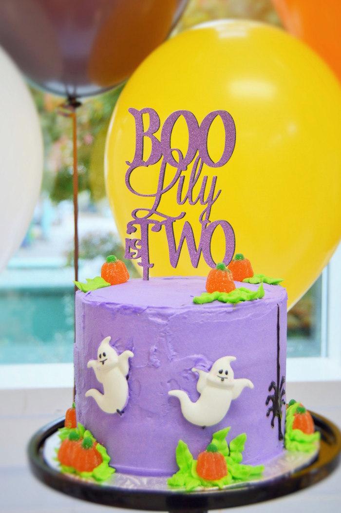 Halloween Birthday Cake From A Spooktacular Party On Karas Ideas
