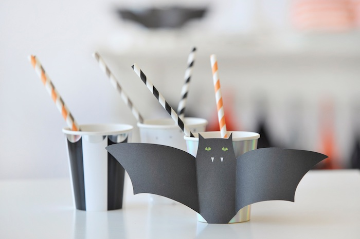 Bat cups from a Spooky Halloween Party on Kara's Party Ideas | KarasPartyIdeas.com (19)