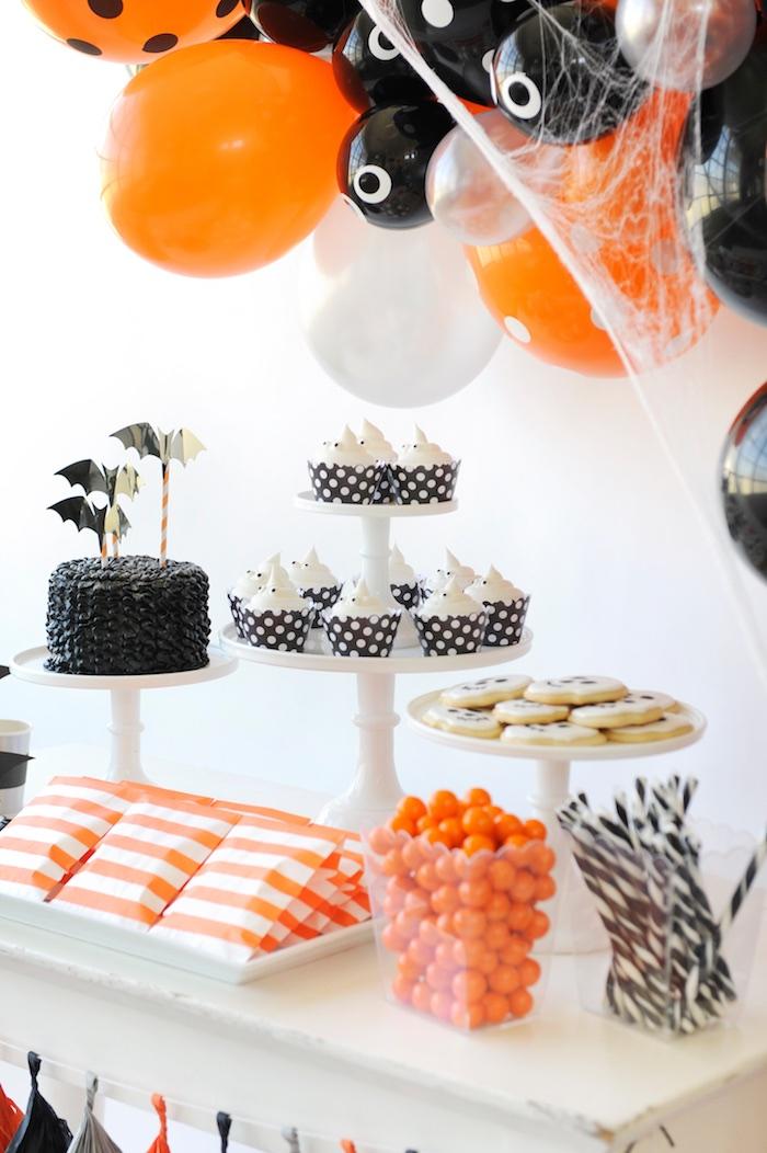 Sweet table from a Spooky Halloween Party on Kara's Party Ideas | KarasPartyIdeas.com (15)