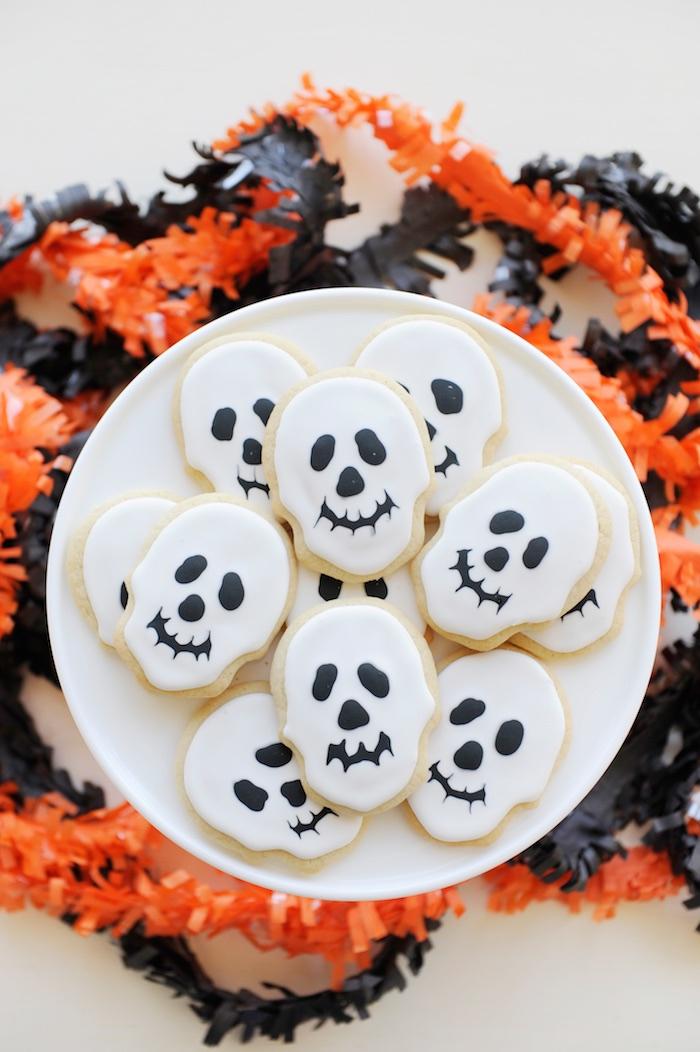 Skeleton cookies from a Spooky Halloween Party on Kara's Party Ideas | KarasPartyIdeas.com (13)
