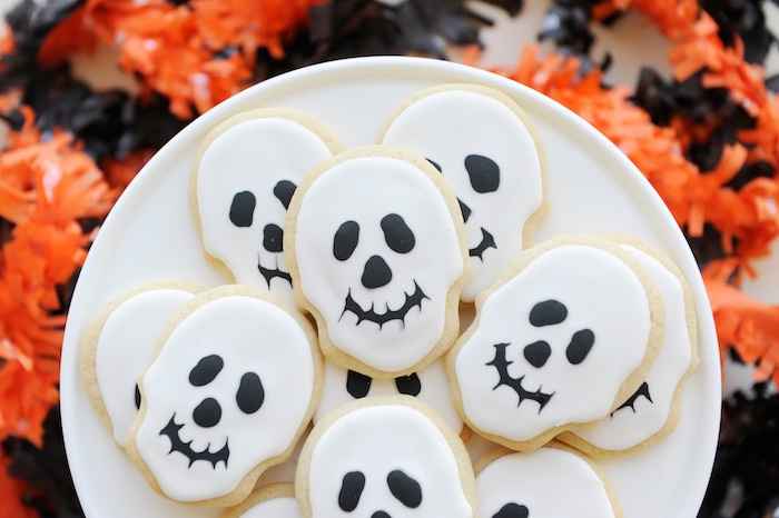 Skeleton cookies from a Spooky Halloween Party on Kara's Party Ideas | KarasPartyIdeas.com (12)