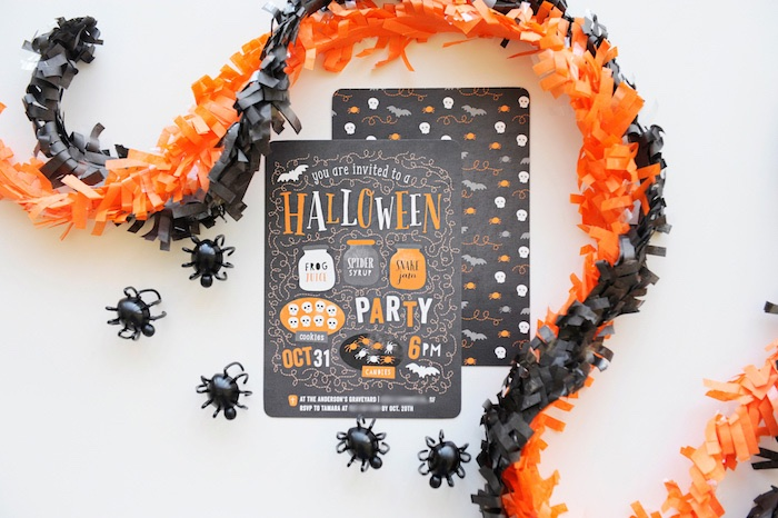 Halloween Party Invitation from a Spooky Halloween Party on Kara's Party Ideas | KarasPartyIdeas.com (6)