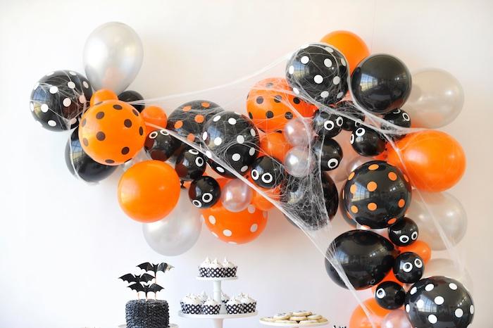 Halloween balloon arch from a Spooky Halloween Party on Kara's Party Ideas | KarasPartyIdeas.com (27)