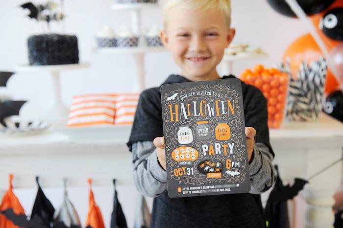 Invitation from a Spooky Halloween Party on Kara's Party Ideas | KarasPartyIdeas.com (23)