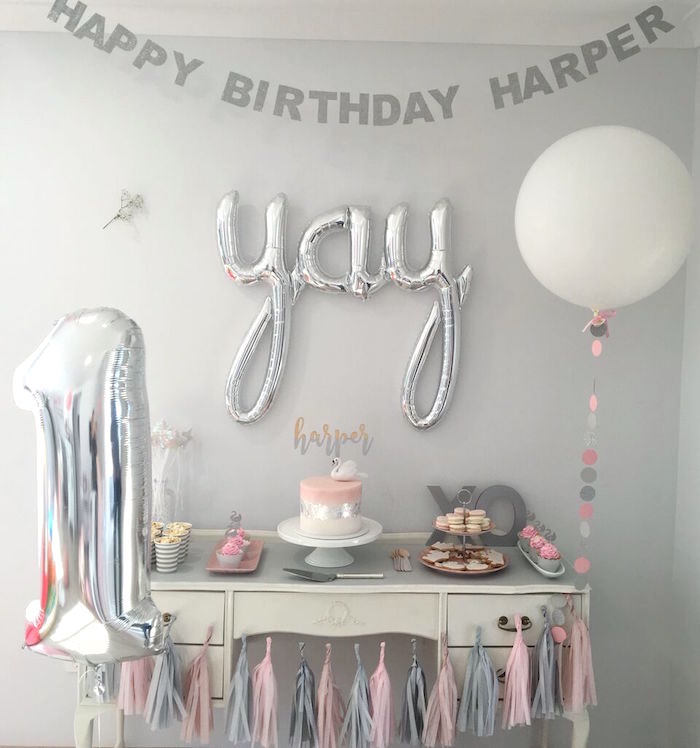 Sweet Swan Birthday Party on Kara's Party Ideas | KarasPartyIdeas.com (10)