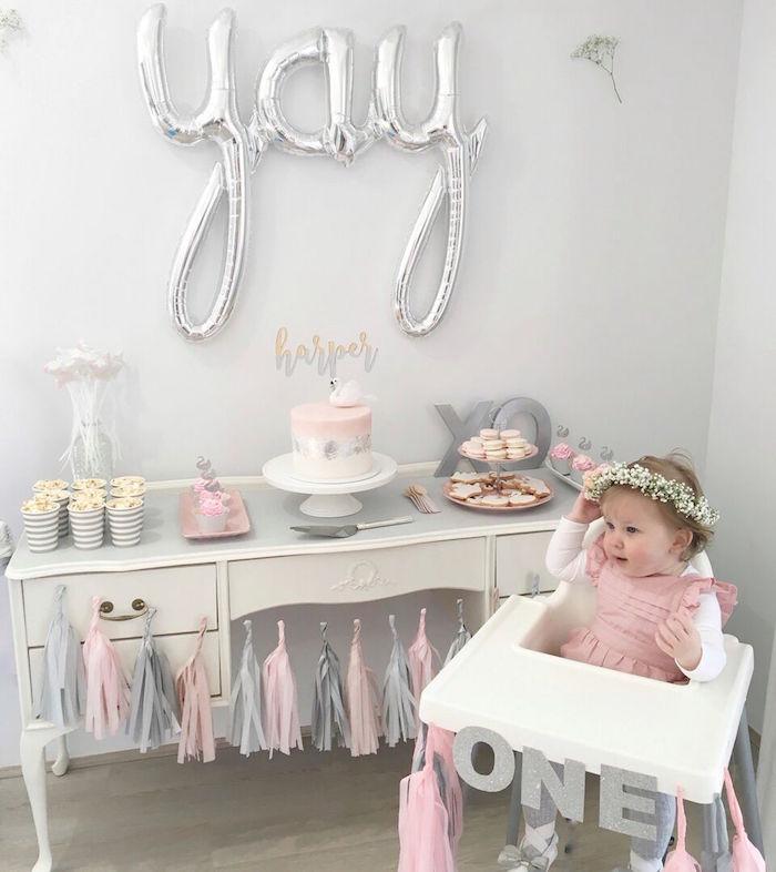 Sweet Swan Birthday Party on Kara's Party Ideas | KarasPartyIdeas.com (7)