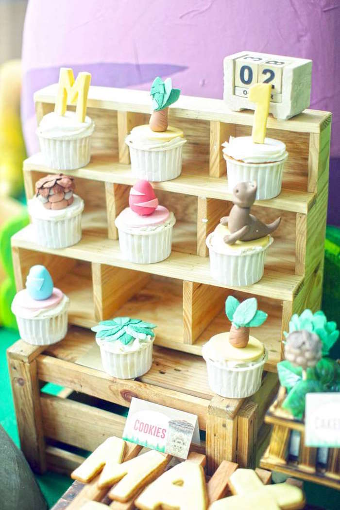 Cupcakes from a Good Dinosaur Birthday Party on Kara's Party Ideas | KarasPartyIdeas.com (15)