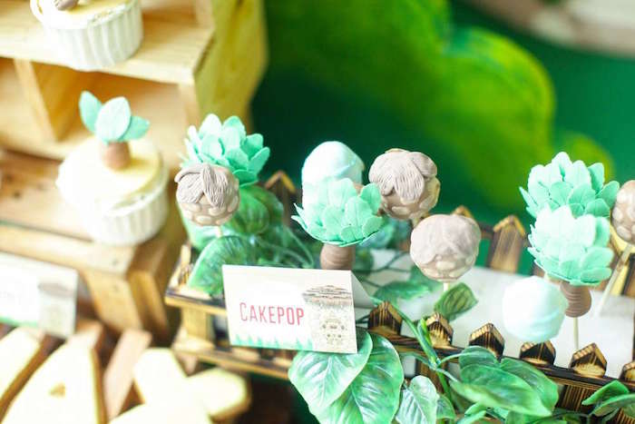 Prehistoric cake pops from a Good Dinosaur Birthday Party on Kara's Party Ideas | KarasPartyIdeas.com (13)