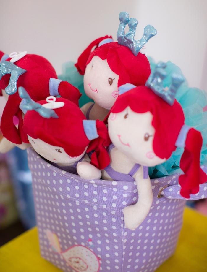Ariel doll favors from a Little Mermaid Birthday Party on Kara's Party Ideas | KarasPartyIdeas.com (9)