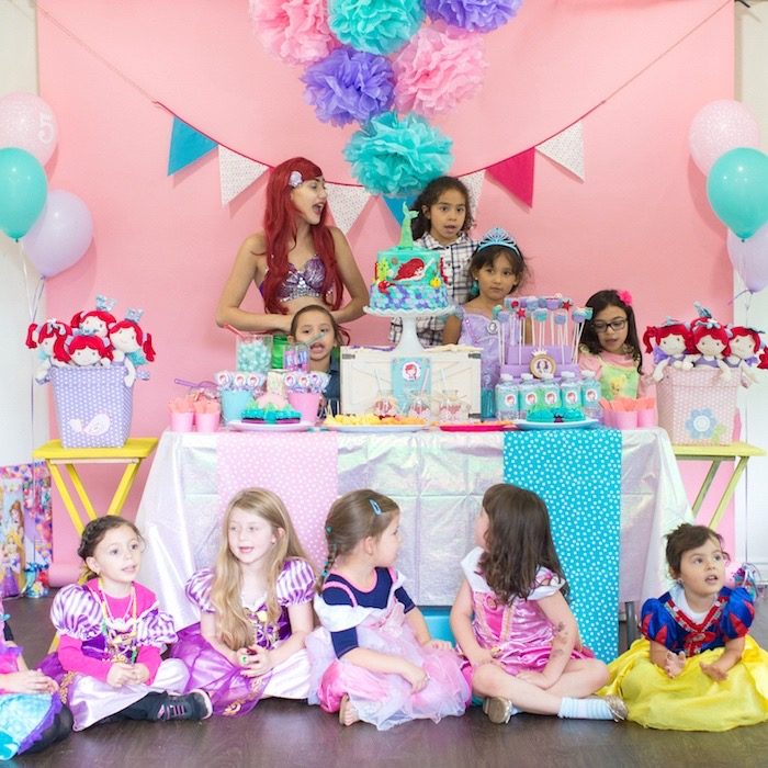 Dessert table from a Little Mermaid Birthday Party on Kara's Party Ideas | KarasPartyIdeas.com (6)