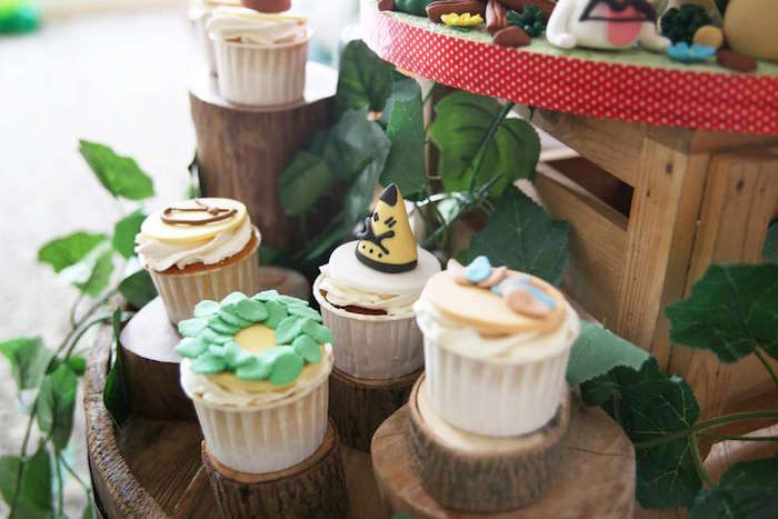Cupcakes from a Tribal Indian Camping Party on Kara's Party Ideas   KarasPartyIdeas.com (21)