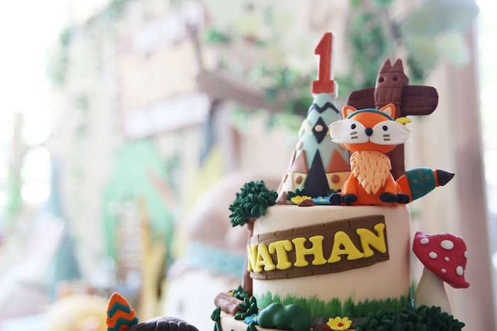 Tribal cake top from a Tribal Indian Camping Party on Kara's Party Ideas   KarasPartyIdeas.com (19)